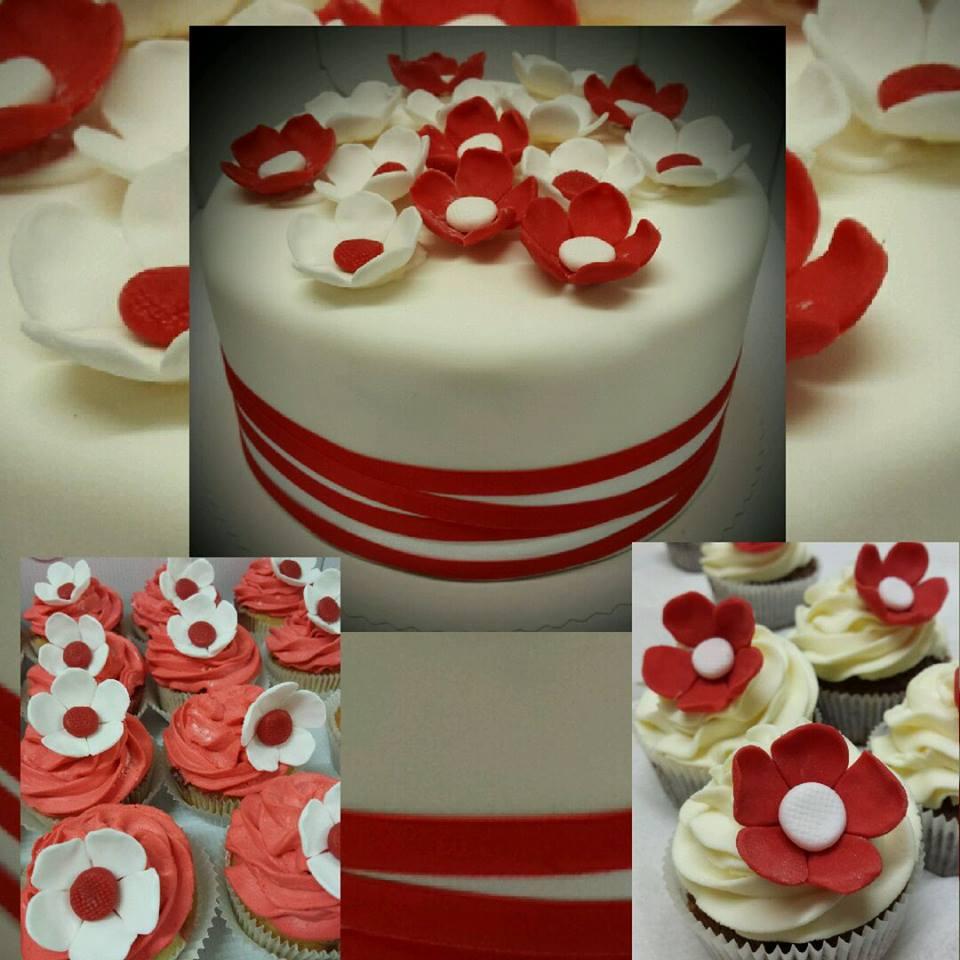 Torte-rote Blumen