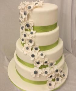Torte-Blumen-grünesBand