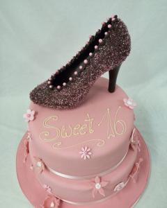 Torte mit Schuh