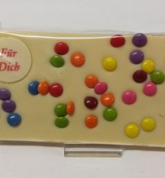Grußtafel Für Dich Weiße Schokolade