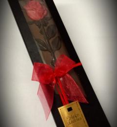 Tafel mit Rose - Vollmilch