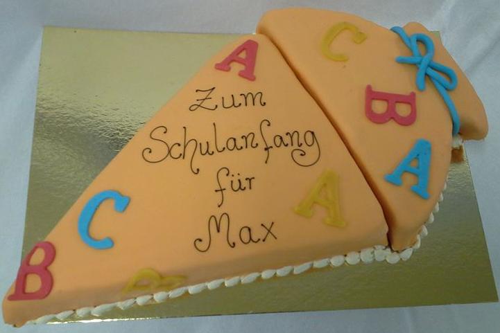 Max -Torte für den Schulanfang
